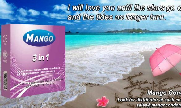 Mango contoured condom