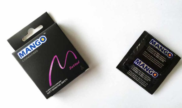 Mango dotted condom