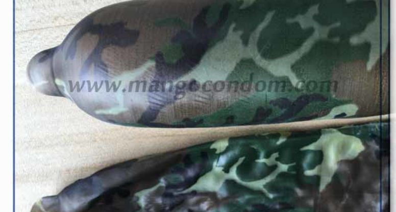 camouflage full printed condom