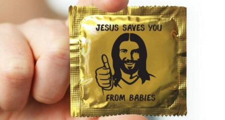 Jesus Saves You From Babies Condom