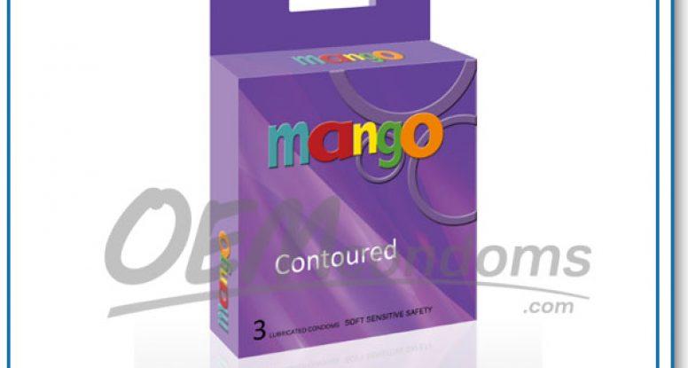 Contoured condom manufacturers and supplier, MANGO condom brand factories