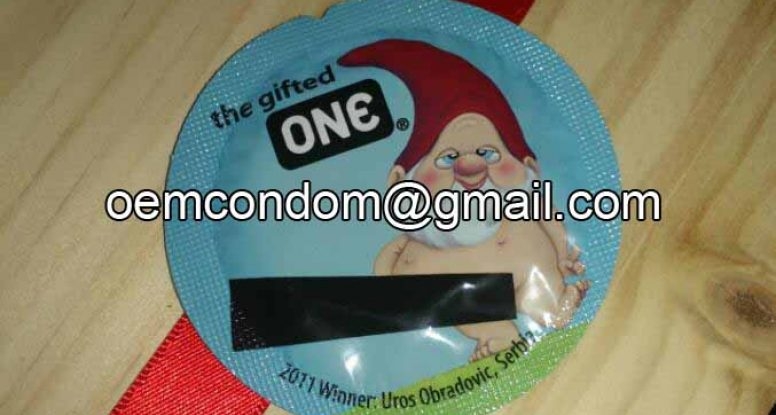 funny creative foiled condom pack