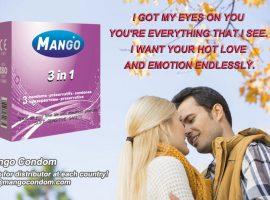 Mango brand condom,contoured condom,3in1 condom