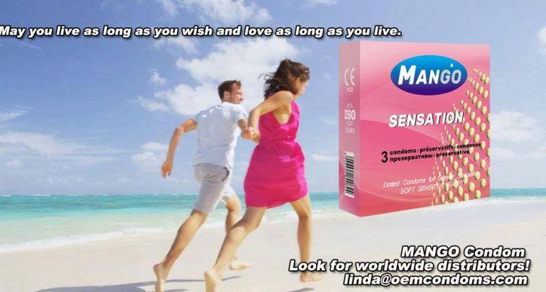 MANGO condom, MANGO sensation condom, MANGO dotted condom supplier
