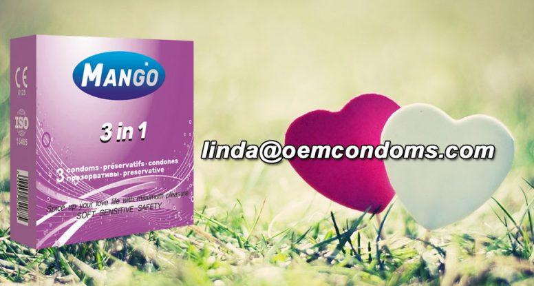MANGO brand condom, MANGO condom, contoured condom manufacturer