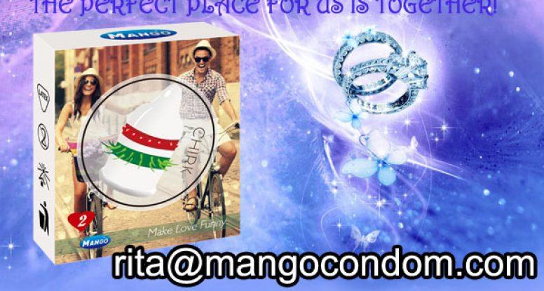 Mango Chirk spike condom,funny condom,novelty condom